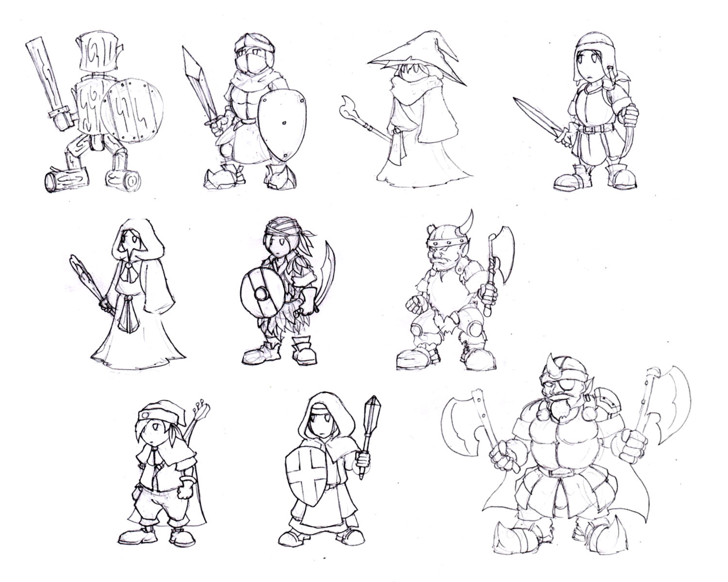 Character sketches